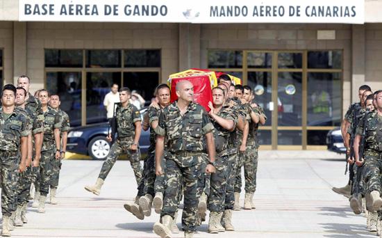 Funeral militares españoles Afganistán