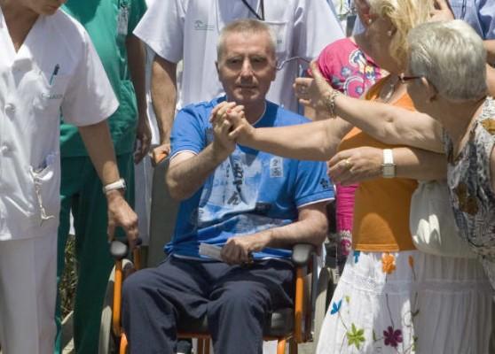 Ortega Cano, a la salida esta mañana del hospital. | EFE