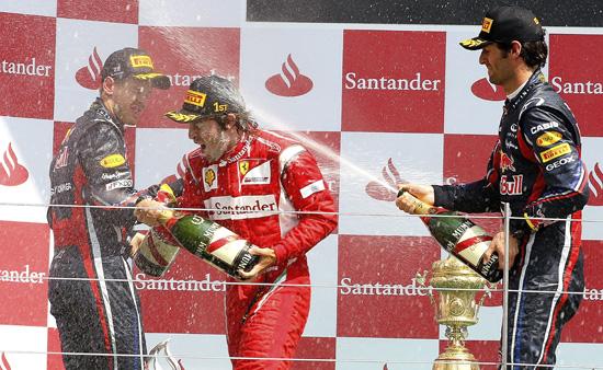 F1 Podio GP UK 2011