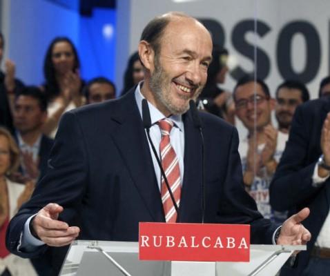 El candidado del PSOE a la presidencia del gobierno, Alfredo Pérez Rubalcaba.   DA