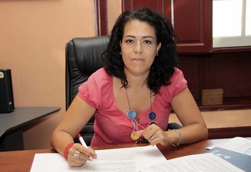 Sara Cano Delgado, concejala de Educación y Tercera Edad del Ayuntamiento de Granadilla. | DA