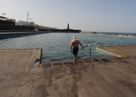 Vista de las piscinas de Bajamar. / DA