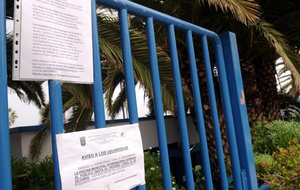 Un problema t cnico cierra la piscina deportiva municipal for Piscina municipal puerto de la cruz