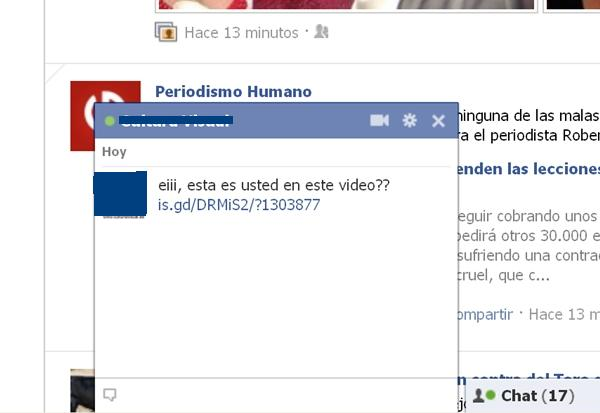 virus facebook chat