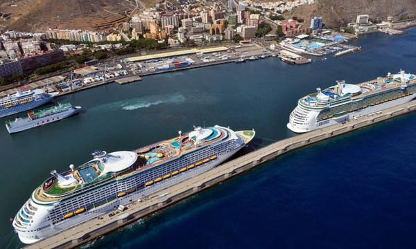 Los puertos de Canarias pierden el 18% de sus cruceristas