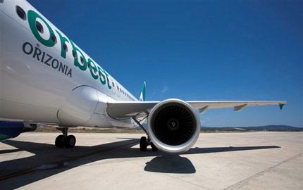 Un airbus A 320 de la aerolínea Orbest, del grupo turístico Orizonia. | DA