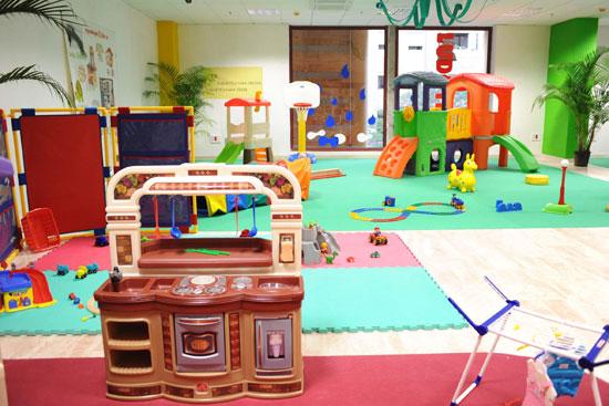 La Ludoteca Santa Cruz dispone de 500 metros distribuidos en ocho espacios diferentes para que los niños puedan jugar. / SERGIO MÉNDEZ