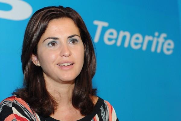 Águeda Fumero, en la sede del Partido Popular de Tenerife. | SERGIO MÉNDEZ