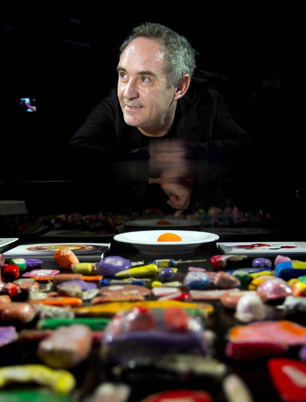 Exposici n de plastilina dedicada al cocinero ferr n adri for Ferran adria platos