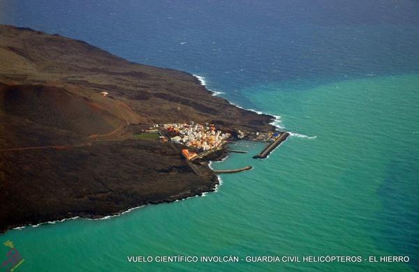 Vista aérea de las consecuencias del volcán en El Hierro. / INVOLCAN