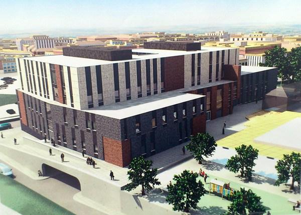 Fotomontaje al inicio del proyecto sobre cómo quedará el Palacio de Justicia de La Laguna. | DA