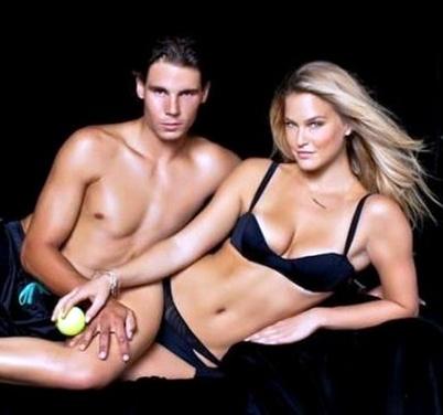 Rafael Nadal posa junto a la modelo Bar Refaeli en la nueva edición ...