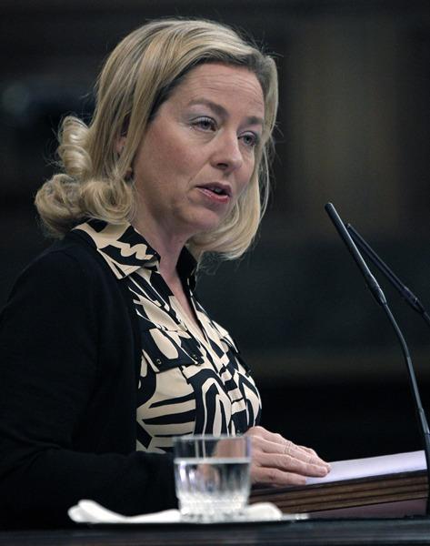 Imagen de archivo de una intervención de la diputada nacional Ana Oramas.   DA
