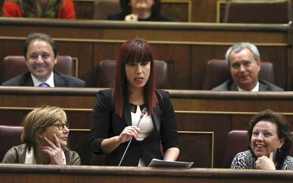 La diputada socialista Patricia Hernández durante una intervención en la sesión de control al Gobierno en el Congreso. | DA
