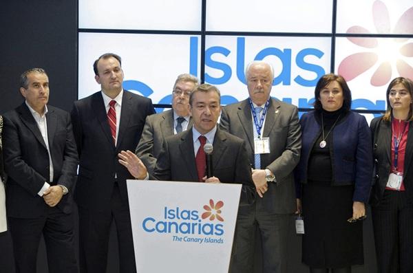 El presidente del Gobierno de Canarias, Paulino Rivero, en la ITB de Berlín del año pasado. | EFE