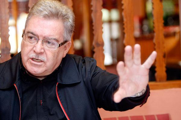 El presidente del Cabildo hizo balance de la situación económica. / E. P.