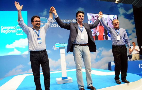 Asier Antona, José Manuel Soria y Manuel Fernández