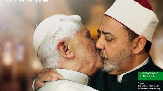 El Vaticano gana la batalla a Benetton por usar la imagen del Papa besando a un imán