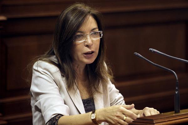 La consejera de Sanidad Brígida Mendoza Parlamento de Canarias