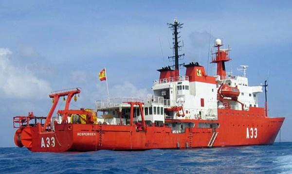 Imagen del buque de investigación oceanográfica Hespérides.
