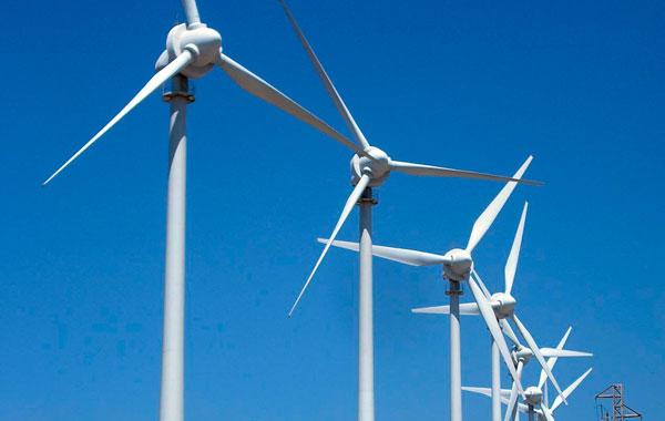 Detalle de varios generadores de un parque eólico del sur de Tenerife. | DA