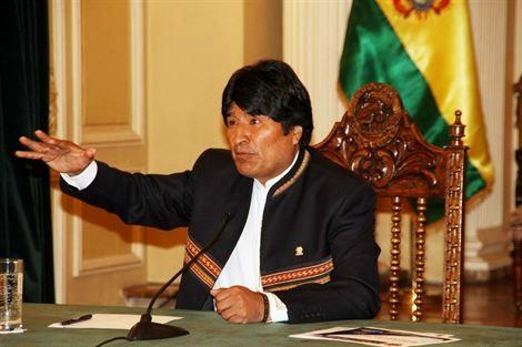 El presidente de Bolivia, Evo Morales.   E.P.
