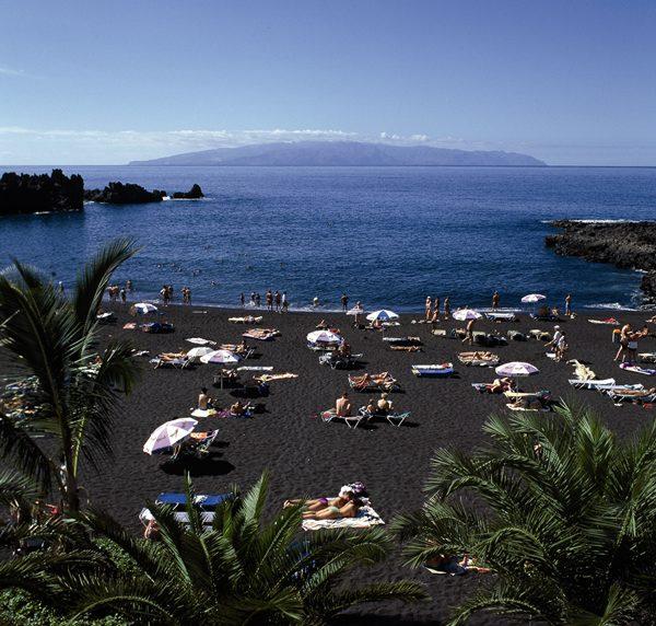 La Playa de La Arena, en el municipio de Santiago del Teide. | DA