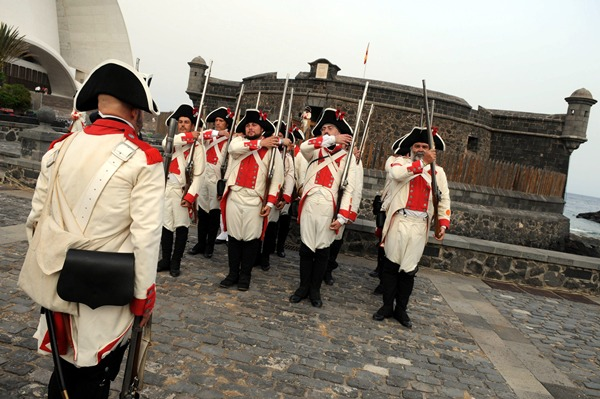 Representación de la victoria de las tropas tinerfeñas sobre las inglesas dirigidas por Horacio Nelson. | DA