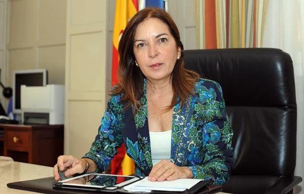 La consejera de Sanidad del Gobierno de Canarias, Brígida Mendoza. | SERGIO MÉNDEZ