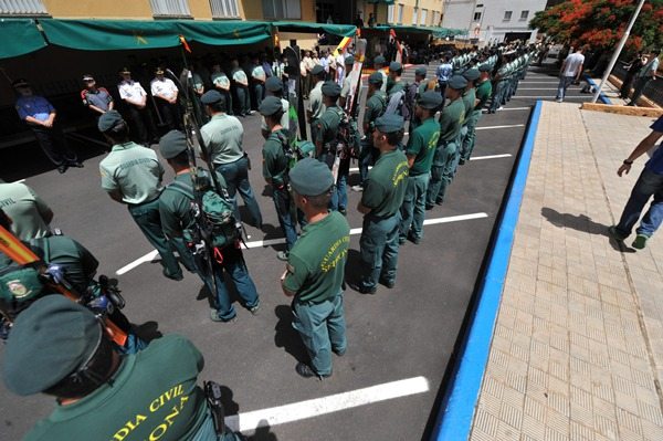 5,4% es el porcentaje de disminución de efectivos de la Guardia Civil en la provincia. | FRAN PALLERO