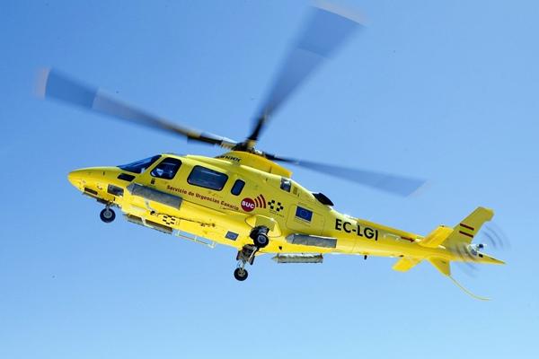 Imagen de archivo de un helicóptero del SUC. / DA