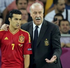 Pedro Rodriguez, Vicente del Bosque, seleccion española fútbol