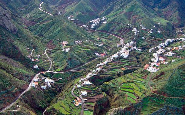 Vista aérea de Almáciga,