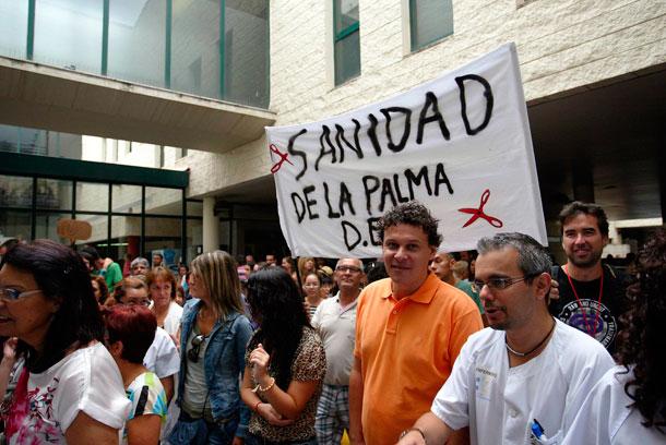 HOSPITAL LA PALMA PROTESTA