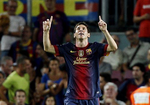 Lionel Messi celebrando uno de sus goles | REUTERS
