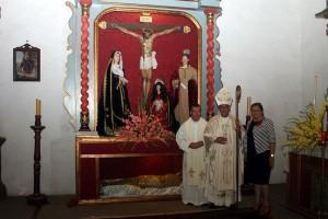 restauración  retablo iglesia la palmaretablo
