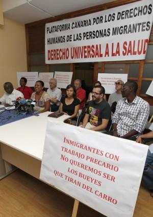 PRESENTACIÓN DE LA PLATAFORMA CANARIA POR LA DEFENSA DE LOS DERECHOS HUMANOS DE LOS INMIGRANTES