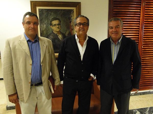 Antonio Alarco Eusebio Dorta y Abel Roman
