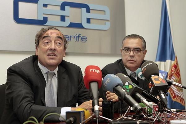REUNION DEL PRESIDENTE DE LA CEOE DE TENERIFE JUAN CARLOS FRANCISCO CON JUAN ROSELL