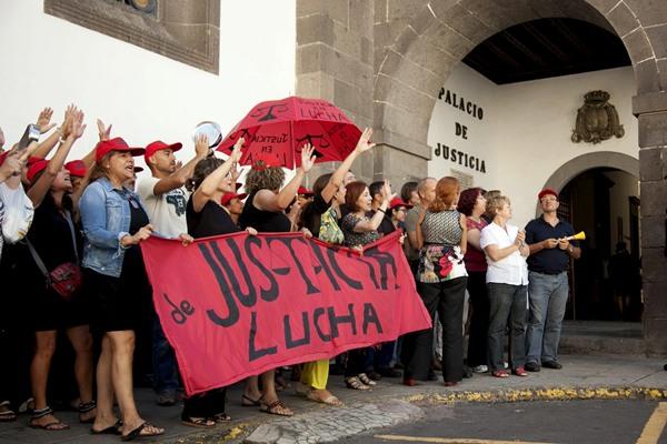 PROTESTA TRABAJADORES JUSTICIA
