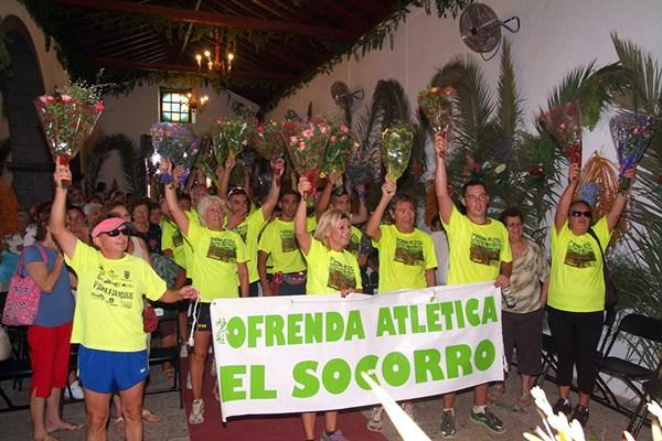 VIRGEN DE EL SOCORRO OFRENDA FLORAL