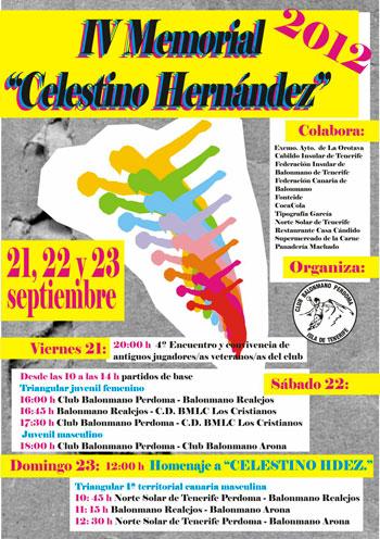 Cartel del IV Memorial Celestino Hernández