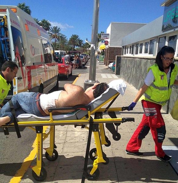 evacuacion un herido hotel explosion gas