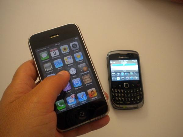 SMARTPHONES IPHONE Y BLACKBERRY