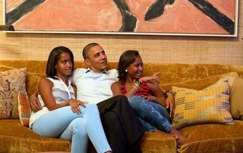 Barack Obama familia