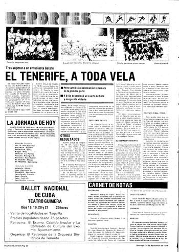 PORTADA DA 1976 - CD TENERIFE