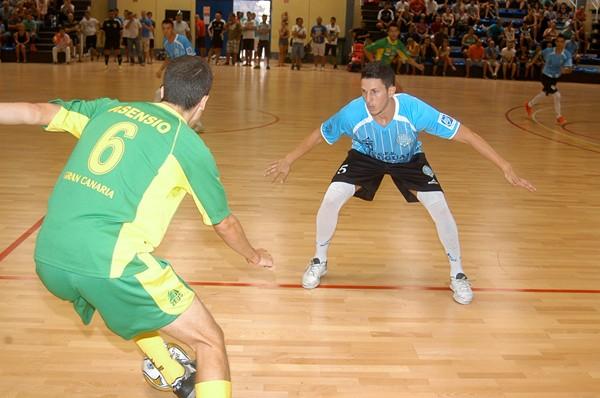 encuentro futbol sala entre Uruguay Tenerife y Galdar