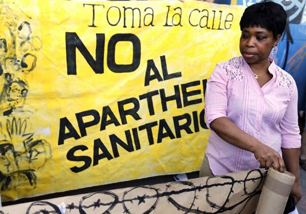 protesta sanidad inmigrantes