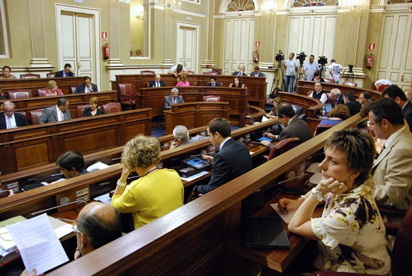Sesion parlamento de Canarias