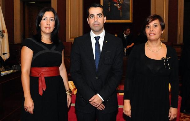 ALICIA ÁLVAREZ, FLORENTINO GUZMÁN Y YURI MÁS, CONCEJALES SANTA CRUZ DE TENERIFE